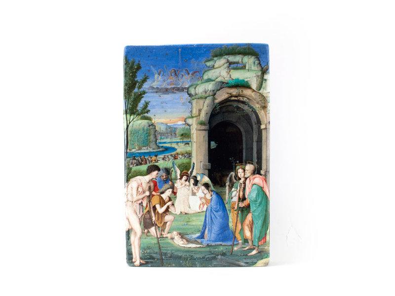 Meister-auf-Holz, Anbetung der Hirten, Marmitta, 300 x 195mm