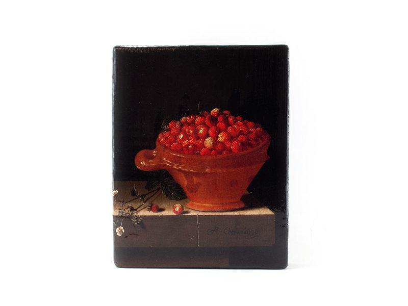 Maîtres-sur-bois, Nature morte avec un bol de fraises, Coorte, 240 x 195mm
