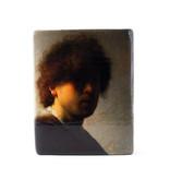 Masters-on-wood, Rembrandt, Autoportrait à un jeune âge, 240 x 195 mm
