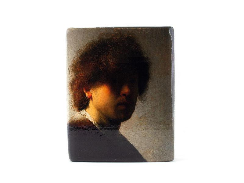 Masters-on-wood, Rembrandt, Zelfportret op jeugdige leeftijd, 240 x 195 mm
