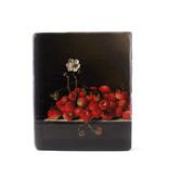 Masters-on-wood, Coorte, Fraises avec fleur, 240 x 195 mm
