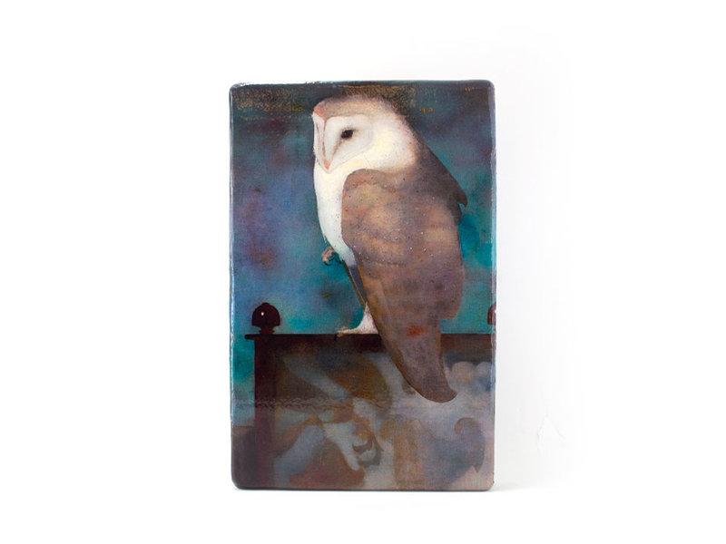 Masters-on-wood, Owl, Jan Mankes 300 x 195mm