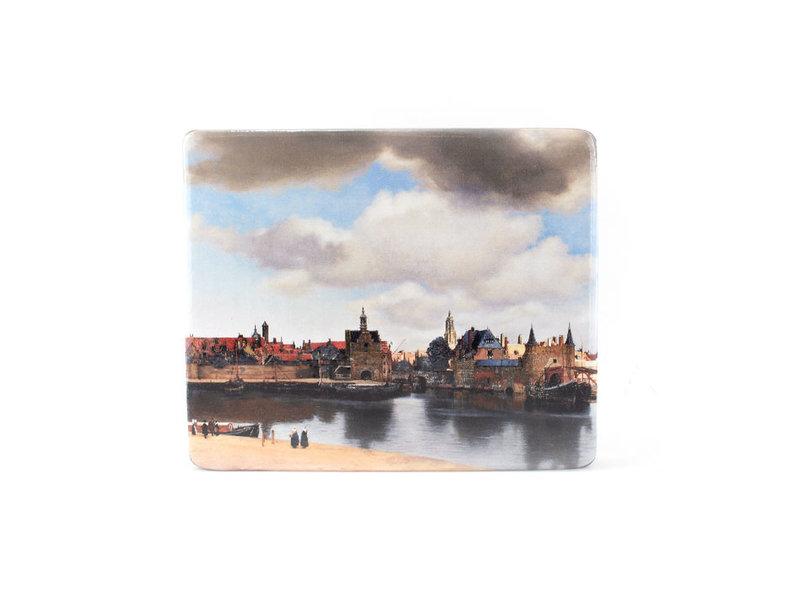 Masters-on-wood, Vista de Delft, Vermeer, 230x195 mm