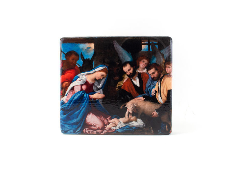 Masters-on-wood, Adoration of the shepards, Lorenzo Lotto, 230x195 mm