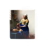 Masters-on-wood,  Lechera, Vermeer 230x195 mm