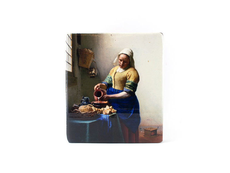 Reproduction-on-wood, Mikmaid, Vermeer 230x195 mm
