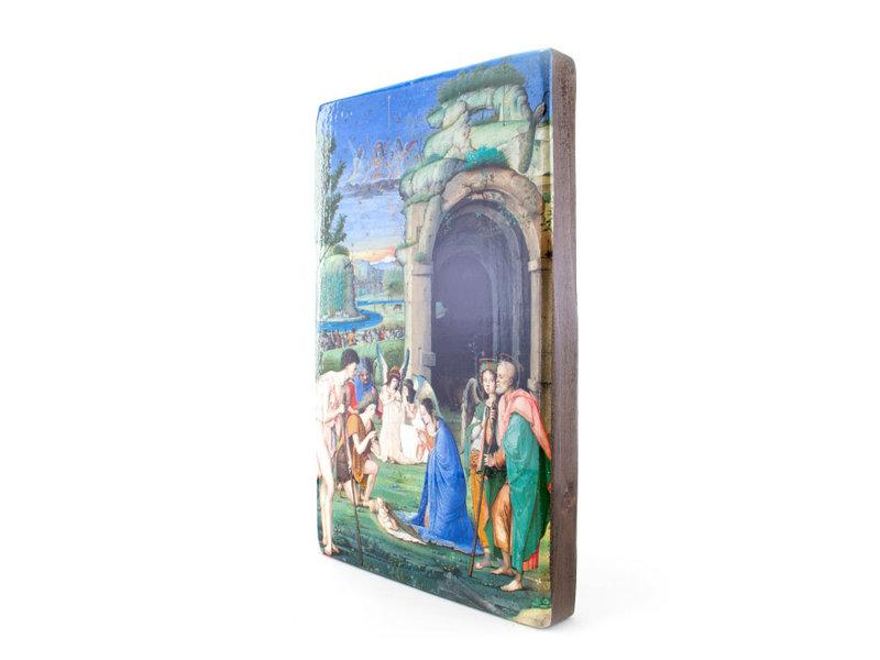 Masters-on-wood, Adoración de los pastores, Marmitta, 300 x 195mm
