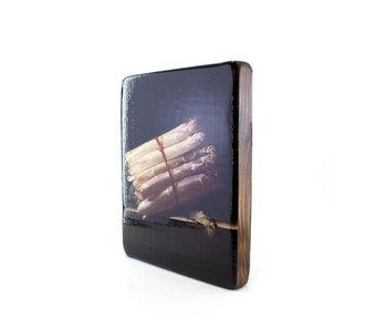 Meister auf Holz, Coorte, Stillleben mit Spargel