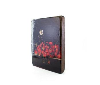 Masters-on-wood, Coorte , Aardbeien met bloem