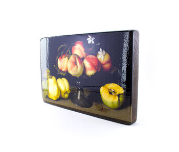 Masters-on-wood, Still Life of Peaches and Quinces,Fede Galizia
