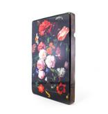 Maîtres sur bois, Nature morte aux fleurs, De Heem, 300 x 195mm