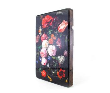 Masters-on-wood, Bodegón de flores,  - Jan Davidsz de Heem