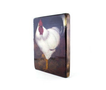 Masters-on-wood, White Rooster, Jan Mankes