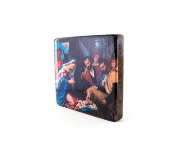 Masters-on-wood, Adoración de los pastores, Lorenzo Lotto