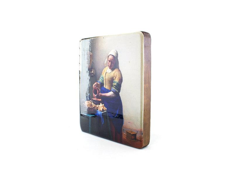 Masters-on-wood, Das Milchmädchen, Vermeer 230x195 mm