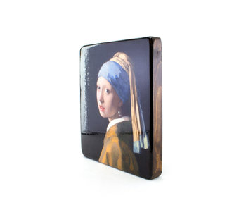 Masters-on-wood, Chica con un pendiente de perlas, Vermeer