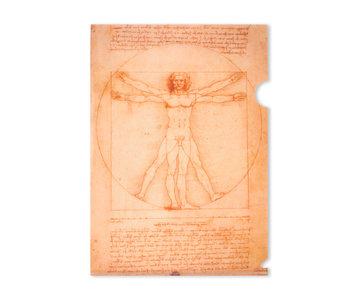 L-Ordner A4-Format, Da Vinci, vitruvianischer Mann