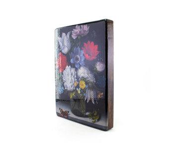 Masters-on-wood, Nature morte aux fleurs avec papillon, Bosschaert