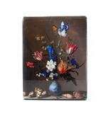 Maîtres-sur-bois, Vase bleu de Delft avec fleurs et coquillages,  Balthasar vd Ast, 260 x 195mm