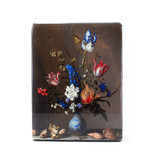 Masters-on-wood, Delft blue vase with flowers and shells, Balthasar vd Ast, 260 x 195mm