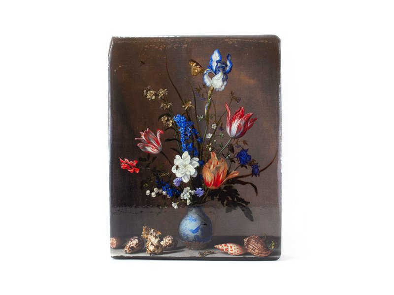 Meester-op-hout- Bloemstilleven met insecten, Balthasar vd Ast, 260 x 195mm