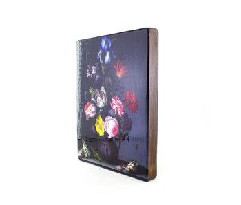 Masters-on-wood, Nature morte de fleurs avec sauterelle,  B. vd  Ast