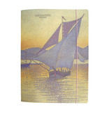 Dokumentenmappe mit Gummiband, Signac: Der Hafen bei Sonnenuntergang