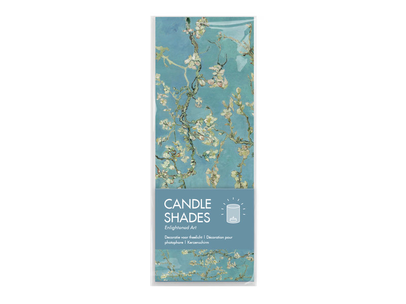 Candle shades, Van Gogh, Almond blossom