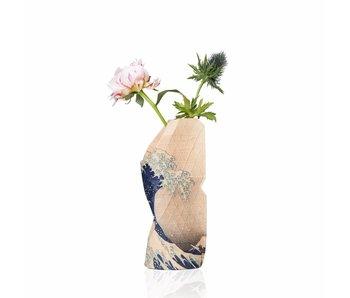 Papieren vaas, klein, Hokusai, De grote golf