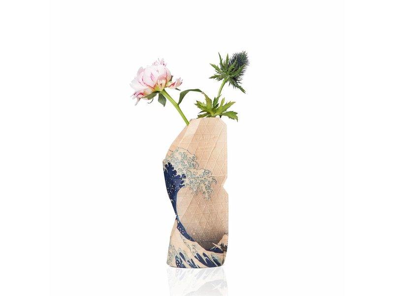 Florero de papel, Hokusai
