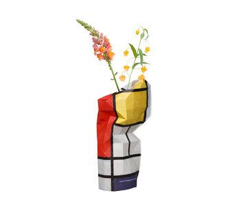 Florero de papel,Mondrian