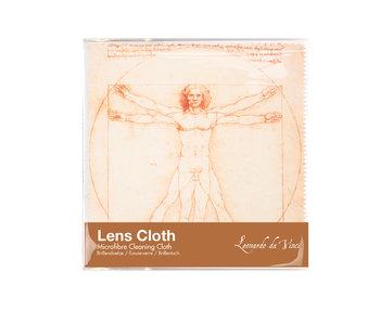 Linsentuch, 15 x 15 cm, Da Vinci, vitruvianischer Mann