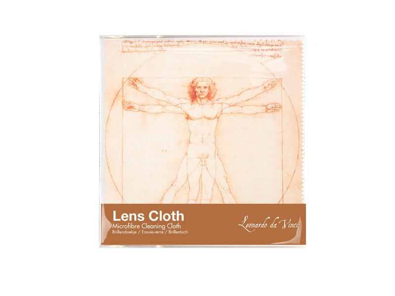 Chiffon de nettoyage pour lunettes, 15 x 15 cm, Da Vinci, l'homme de Vitruve