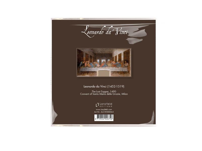Brillenputztuch, 15 x 15 cm, Da Vinci, Das letzte Abendmahl