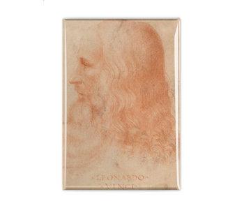 Kühlschrankmagnet,  Da Vinci, Selbstporträt