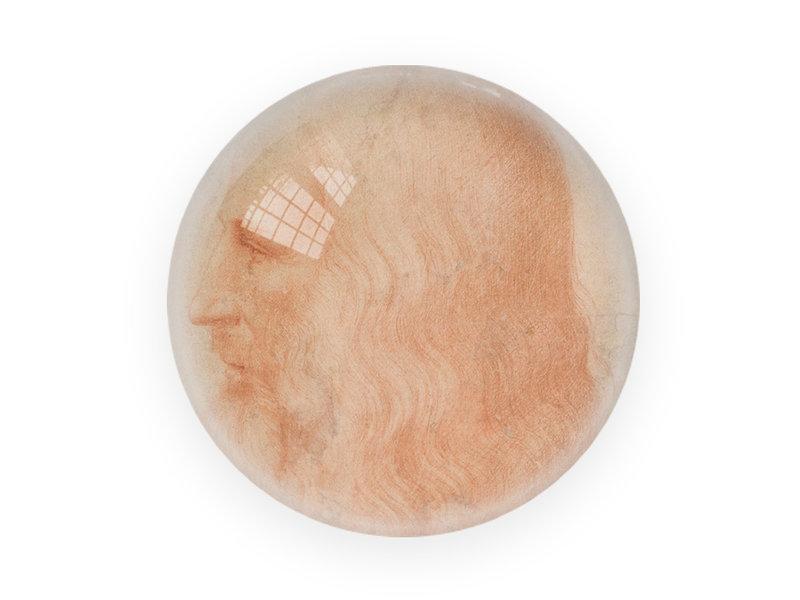 Pisapapeles de vidrio, Da Vinci, Auto retrato
