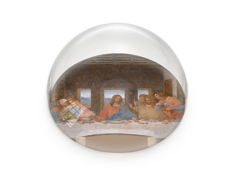 Pisapapeles de vidrio, Da Vinci, Última cena