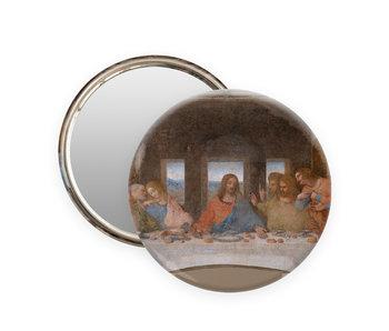 Taschen spiegel,  Ø 80 mm, Da vinci, Das letzte Abendmahl