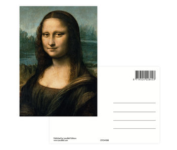 Ansichtkaart,  Da Vinci, Mona Lisa