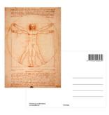 Carte postale, Da Vinci,  l'homme de Vitruve