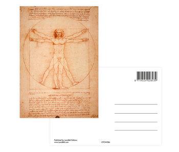 Postcard,  Da Vinci, Vitruvian Man