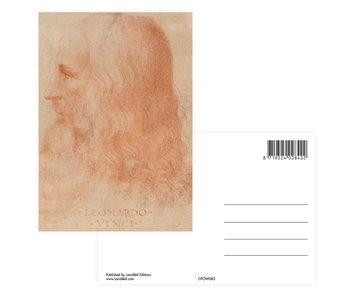 Postkarte, Da vinci, Selbstporträt