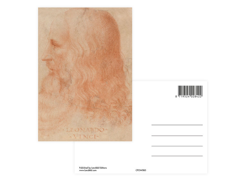 Postal, Da Vinci, Auto retrato