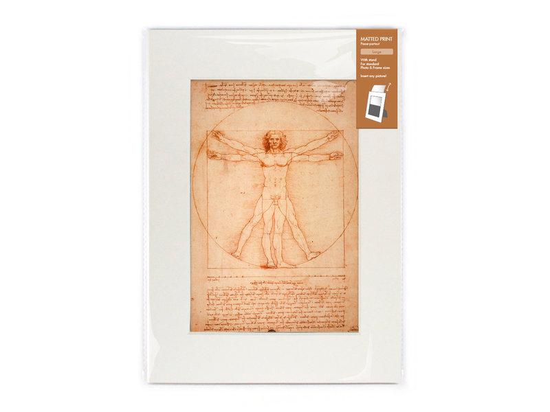 Passe-partout avec reproduction, L Da Vinci,  l'homme de Vitruve