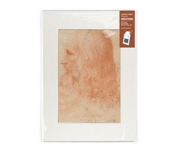Passe-Partout mit Reproduktion, L, Da Vinci, Selbstporträt