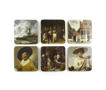 Dessous de verre, chefs-d'œuvre, Rijksmuseum