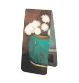Magnetisches Lesezeichen, Ingwerglas mit Chrysanthemen