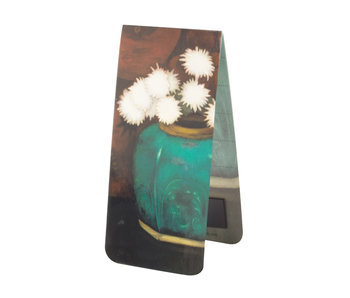 Magnetic bookmark , Mankes-Ginger jar with chrysanthemums