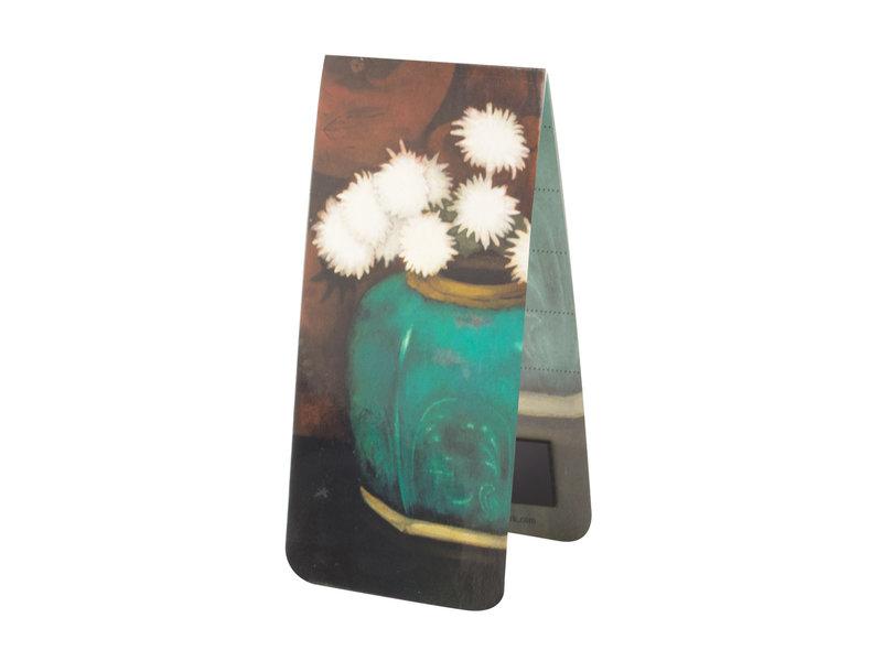 Magnetische Boekenlegger, Mankes-Gemberpot met chrysanten