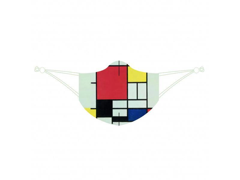 Mouth mask, Mondrian
